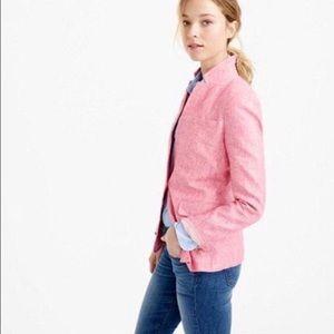 NWOT J. Crew Pink Linen Regent Blazer Size 6